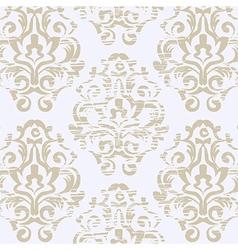 Grunge vintage floral seamless pattern vector image