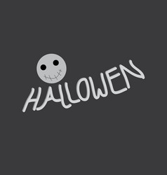 hallowen text vector image