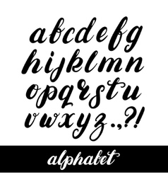 Hand written brush alphabet vector
