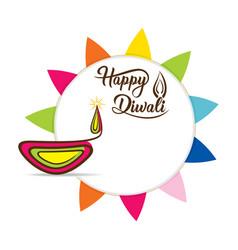 Happy diwali festival poster design vector