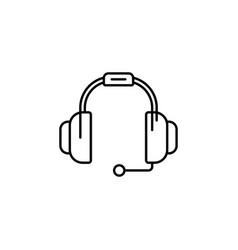 headphone icon headphone icon in trendy flat vector image