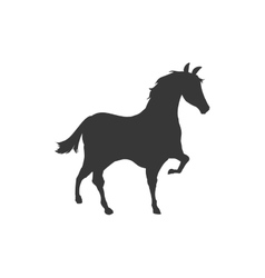 horse animal animal silhouette icon vector image