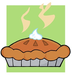 Hot Thanksgiving Pie vector