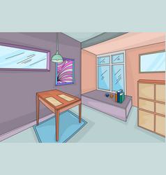 House interior hand drawing scene vector