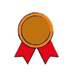 Medal award ribbon vector