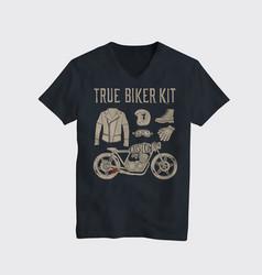 Motorcycle t-shirt design vector