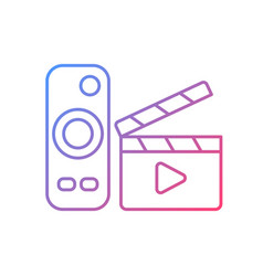 Movies streaming gradient linear icon vector