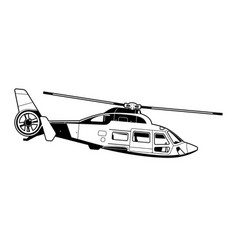 passenger helicopter vector image