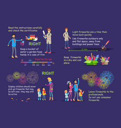 picture instruction for right firework usage vector image
