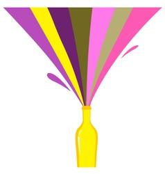 rainbow bottle splash vector image