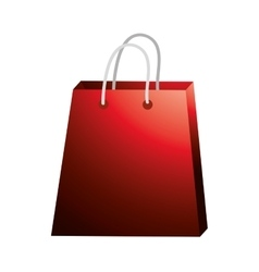 Red shopping bag design vector