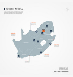 republic of south africa infographic map vector image