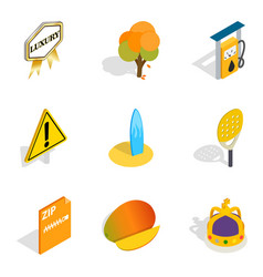 Running icons set isometric style vector