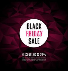 sale black friday banner background vector image