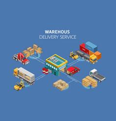 Scheme warehouse work vector