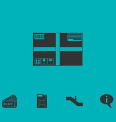 sending box icon flat vector image