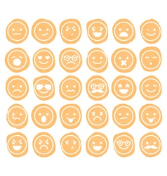 set of smiley icons isolated vector image