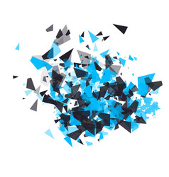 shatter design element the cloud of the vector image