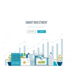 Smart investment finance market data analytics vector