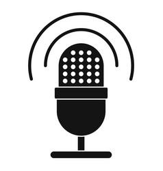 studio microphone icon simple style vector image