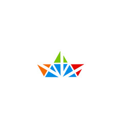 triangle colored logo vector image
