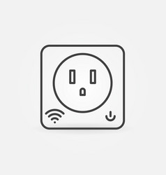 Us smart socket simple icon in thin line vector