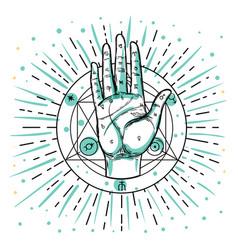 vintage hands hand drawn sketchy vector image