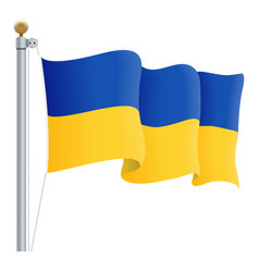 waving ukraine flag isolated on a white background vector image