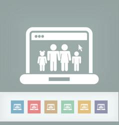 Web family icon vector