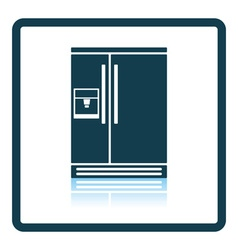 Wide refrigerator icon vector image
