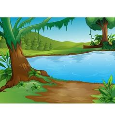 A river vector image vector image