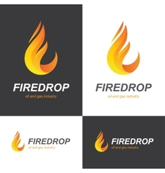 Fire flame drop logo vector image vector image