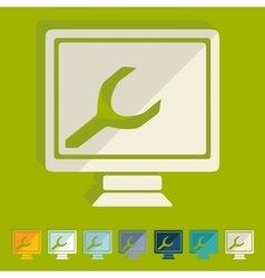 Flat design computer service vector image