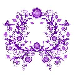 floral ornament frame vector image vector image