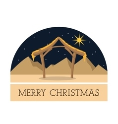 Hut icon Merry Christmas design graphic vector image