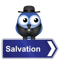 SALVATION vector image vector image