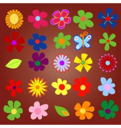 flowery vector image vector image