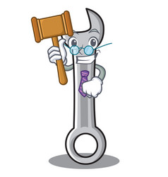 judge spanner character cartoon style vector image vector image