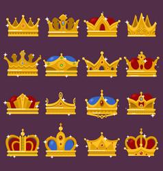 monarch shining crown pope tiara queen headdress vector image