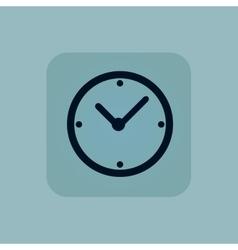 Pale blue clock icon vector