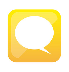 Color square with speech bubble vector