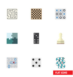 Flat icon games set of bones game sea fight vector