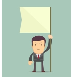 Man holding flag vector image