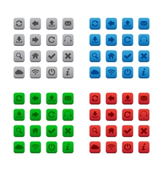 Square web buttons vector image vector image