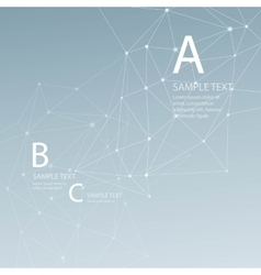 Abstract background triangular grid vector image