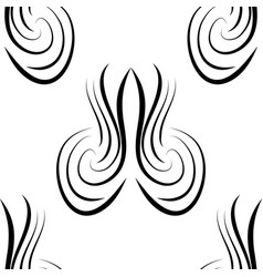 abstract black and white damask seamless vector image vector image