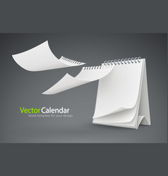 calendar template with flying vector image