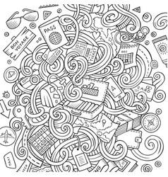Cartoon cute doodles traveling vector