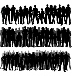 crowds of people vector image vector image