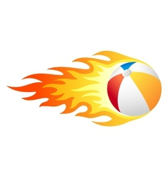 Flaming beach ball vector